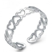 Om Jewells Rhodium Plated Proposal Heart Band Ring Crafted for Girls and Women FR1000902