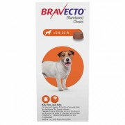 Bravecto for Small Dogs 9.9 to 22lbs (Orange) 2 Chew