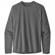 Patagonia - L/S Cap Cool Trail Shirt - T-shirt technique taille S, gris/noir