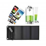 EY Panel Solar Plegable 6W USB De Viaje Camping Cargador De Batería Portátil Para El Teléfono Negro