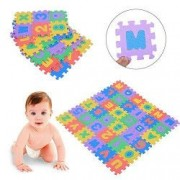 Covor puzzle educativ pentru copii din spuma EVA cu imprimeu cifre si litere 36 piese Vivo EFG1073