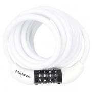 Spirálový kombinační zámek na kolo Master Lock 8221EURDPROCOL - 1,8m - bílý