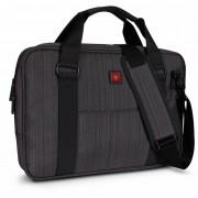 Maletin Para Laptop Swiss Brand Gleather Briefcase-Gris