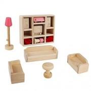 Andux Land Dollhouse Miniature Set for Kids mini Furniture Toys Living Room Design Game MNJJ-02