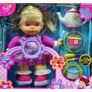 Lovee Singing Doll I'm a Little Teapot with Teapot and Tea Set for 2 (Two) Pink & Purple Clothes Blonde Hair 2012 Creative Toy Award