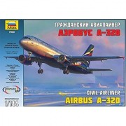 Zvezda Models Airbus A-320 - Aeroflot Model Kit (1/144 Scale)