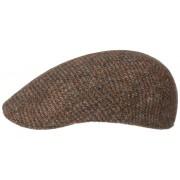 Stetson Ivy Cap Schiebermütze Harris Tweed - made in Germany Braun gemustert 61/XL