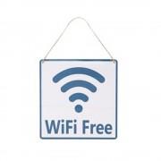 Tablou decorativ metalic GMO WiFi Free 20x20cm