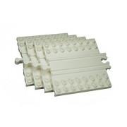 Wooden Railway Block Platform, 4 Pack (Combine Wooden Trains And Lego, Duplo)