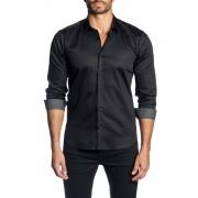 Jared Lang Woven Trim Fit Shirt BLACK