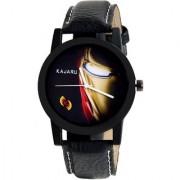 Kajaru KJR-107 stylish sporty black analog watch for boyMen