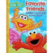 2013 Sesame Street Favorite Friends Elmo JUMBO Coloring & activity Book for Kids - 96 Pages