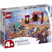 Конструктор Лего Дисни Принцеси - Приключението на Елза с каляска, LEGO Disney Princess, 41166