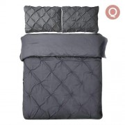 Queen 3-piece Quilt Cover Set Charcoal