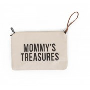 MOMMY'S TREASURES CLUTCH - OFF WHITE BLACK