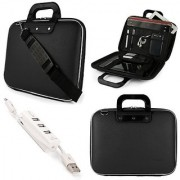 Nyubi Briefcase Messenger Bag for Dell Inspiron 15 5000 Series 15.6 inch Laptops with 3 Port USB Hub (Black)