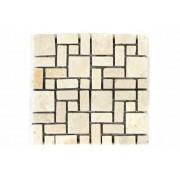 Mramorová mozaika Garth- krémová obklad 1 m2
