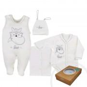 KOALA 4-dílná kojenecká souprava Koala Fox Love smetanová 38520