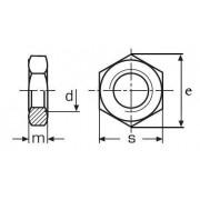 matice M30 A2 NEREZ nízká DIN 439B