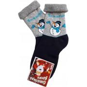 Snowfall hóember - visszahajtós frottír zokni