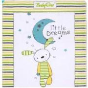 Детско одеяло Babyono 1409/03, Зелен заек, 80 х 100, Сатен и плюш, 0330003