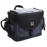 Willex Väska för cykelstyre 9 l svart och grå 13106