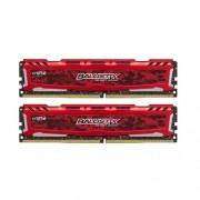 kit 16GB DDR4-2400MHz Crucial Ballistix Sport LT Red CL16 SRx8 uDIMM kit 2x8GB