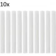 Wattenstaafje voor Luchtbevochtiger voor auto diffuser Aroma Diffuser Luchtbevochtigers Filters Kan Worden Gesneden vervangen Onderdelen 10 stks