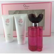Oscar De La Renta Rose Geschenkset For Women Edt 100ml + Shower Gel 100ml + Body Lotion 100ml