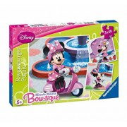 Puzzle 3 in 1 - Minnie Mouse in parc, 147 piese