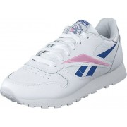 Reebok Classic Cl Lthr White/humble Blue/jasmine Pink, Skor, Sneakers och Träningsskor, Sneakers, Vit, Dam, 39