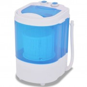 vidaXL Mini máquina de lavar roupa tambor único 2,6 kg