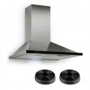 Klarstein Galina, абсорбатор, комплект за режим за рециркулация, 60 cm, 350 m³/h, LED, неръждаема стомана (Set_Galina+AF)