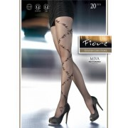 Fiore - Floral pattern tights Miva 20 DEN