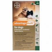 Advantage Multi for Small Dogs 3-9 lbs (Green) 3 DOSES