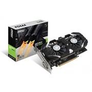 MsiSI GeForce V809-2277R GTX 1050 Ti 4GT OC Grafische kaart, 4 GB, zwart/grijs/bruin/rood