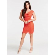 Guess Jurk Stippen Print - Rood - Size: Extra Small