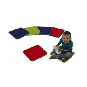 Learning Carpets Solid Color Square Carpet, Three Colors, 16 x 16-Inch