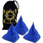 Flames N Games Juggling Ball Sets 5x Tri-It Juggling Balls - Set of 5 Pyramid Juggling Sacks Bean Bags For Kids & Adults + Fabric Travel Bag.