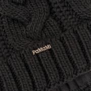 Zimowa czapka damska gruby warkocz PaMaMi - Czarny