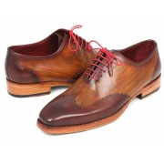 Paul Parkman Wingtip Goodyear Welted Oxford Shoes Brown & Camel 81BRW74