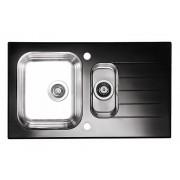 Chiuveta Glassix 20, Picurator dreapta, Negru