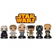 Funko Star Wars Series 6 Figuras Luke Skywalke Darth Vader Unmasked Princess Leia Boushh-Multicolor