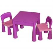 Masuta Guliver cu 2 scaune Tega Baby Mov