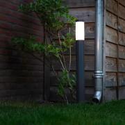 QAZQA Buitenlamp Rox paal 80 donkergrijs