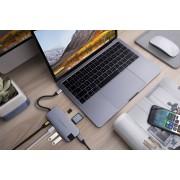 Hyper Slim USB-C hub silver