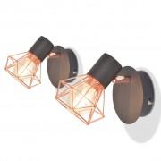 vidaXL Стенни лампи, 2 бр, с 2 LED диодни крушки, 8 W