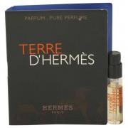 Hermes Terre D'Hermes Vial (Sample) Pure Perfume 0.05 oz / 1.48 mL Men's Fragrances 535809