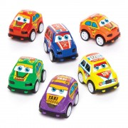 Baker Ross Pullback Racing Cars - 6 Pullback Toys In Assorted Colours. Pull Back And Go Toys. Party Bag Fillers. Size 4cm.