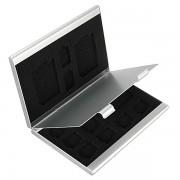 Aluminum 13 In 1 Portable Aluminum Storage Box Case For TF SD Card